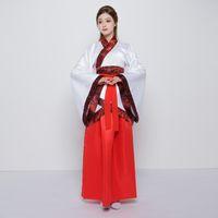 2018 лето китайский традиционный женщины красный hanfu hanfu китайский одежда платье фея платье династии Тан, древний костюм