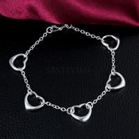 925 pulseras del encanto del amor de la plata esterlina nuevas mujeres amantes del corazón joyas de moda de alta calidad regalos de las mujeres