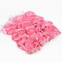 9A 브라질 #pink 워터 웨이브 처녀의 인간의 머리카락 Weaves 브라질 버진 인간의 머리카락의 방석 확장 3 묶음 무료 배송