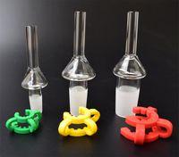 DHL Haute Qualité 10mm 14mm 18mm Quartz Astuce Pour Mini Kits De Collecteur Nectar Avec Des Clips De Keck En Plastique Titanium Nail Tips