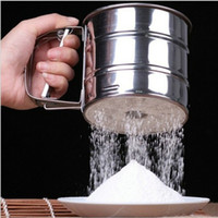Alta taza de tamiz de harina de acero inoxidable tamiz harina tamiz horneado mecánico Icing azúcar coctelera para hornear pasteles para hornear herramientas de pastelería