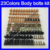 Carenagem parafusos kit parafuso completo para a Kawasaki ZX6R 03 04 05 06 ZX6R 6 R ZX 6R 2003 2004 2005 2006 porcas do corpo parafusos porca 25Colors kit parafuso