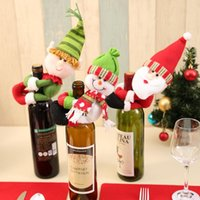 Christmas Decorations Red wine set Christmas tree ornaments ...