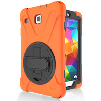 Silicone Case Cover with Wrist Strap for Samsung Galaxy Tab E 8.0 T377 T377V Tablet+Stylus