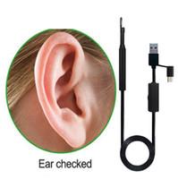 USB منظار تنظيف الأذن HD البصري ملعقة متعددة الوظائف Earpick مع كاميرا مصغرة أداة تنظيف الأذن الرعاية الصحية