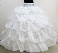 Горячий Продавать Белый 4 Обручи Свадебные Юбки Для Бальное Платье Свадебное Платье Каскадные Оборками Нижняя Юбка Свадебные Аксессуары Для Невесты A13