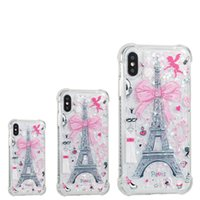Para iphone 8 plus iphone x phone case voltar case capa tpu soft case protetor de telefone para samsung s8 torre eiffel tampa do telefone