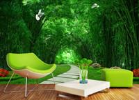 Europa europea dipinto di lusso 3D carta da parati verde strada sfondo sfondo carta da parati 3D stereoscopico TV soggiorno camera da letto pittura murale