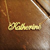 Nome Collana personalizzata personalizzata in acciaio inossidabile Targhetta BFF Pendenti delle collane di colore oro Choker Gioielli regali damigella d'onore