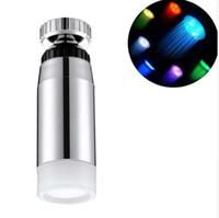 Temperatura controlada LED Faucet Light Sensor de água Glow Shower 7 cores mudando Aerator