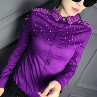 2017 Spring fashion 6 color long sleeve hard bead work cotto...