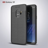 Для Galaxy S9 + S9 Plus Luxury Business Leather Pattern Flexibility Мягкая задняя крышка корпуса TPU Anti-Fingerprints Anti-Scratch для iPhone X 8 7