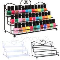 Nuevo Metal Heart 3Tier Nail Polish Holder Display Table Top Wall Rack Organizer HTY07