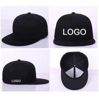 10pcs 많은 공장 도매 힙합 모자 스냅 Snapback 사용자 정의 로고 / 편지 플랫 가장자리 힙합 남여 야구 모자 조절 가능한 크기