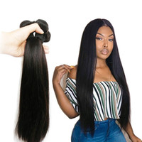 Peruvian Straight Virgin Hair Bundles 1b 100% Human Hair Wea...