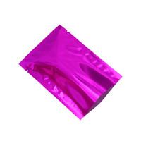 100pcs 6x9cm Mini Purple Open Top foglio di alluminio Food Grade Borse per imballaggio di calore Sealable Mylar Pouch Bag per sacchetto di polvere di caffè secco sottovuoto