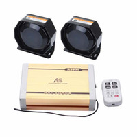 AS 2X100W Car Siren 4-Piece Pack 20 toni con sirena Box 2 altoparlanti microfono a distanza wireless può riprodurre registrazioni MP3 su misura.