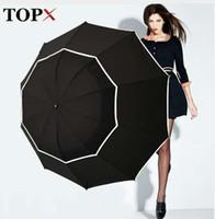 TOPX Big Top Qualità Ombrello Uomo Donna Pioggia Antivento Grande Paraguas Uomo Donna Sole 3 Pieghevole Grande Ombrello Esterno Parapluie