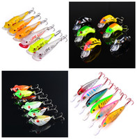 6- color Hard Plastic Lures Fishing Hooks Fishhooks 3D Eyes M...