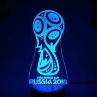 2018 World Cup Awards 3D Illusion light Lamp 3D Optical Lamp...
