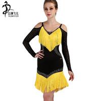 LQ037 Latin Dance Dres Women Girl New Sexy Fringe Salsa Ballroom Tango Cha cha Rumba Samba Latin Dresses For Dancing