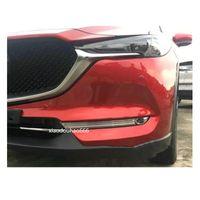 Car styling rivelatore copertura in fibra di carbonio trim anteriore testa fendinebbia telaio della lampada parte 2 pz Per Mazda CX-5 CX5 2nd Gen 2017 2018