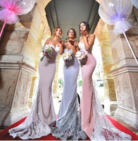 Sexy Spaghetti Mermaid Bridesmaid Dresses 2018 New Country M...