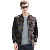274cb9b35145 Mode Frühling Afrika Muster Stil Druck Männer Jacke Casual Afrikanischen  Kleidung Mann Dashiki Mäntel Kleidung Angepasst