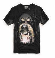 Nueva alta punk 2019 hombres de la novedad de la manera camisetas de Rottweiler Camiseta estampada de Hip Hop Monopatín de la calle camisetas de algodón camiseta de mascota
