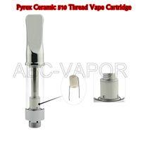 .5 ML 1.0ML Pyrex Ceramic 510 Filettatura Vape Cartuccia Dank Oil Tank CO2 Oil Atomizer Con punte piatte in metallo