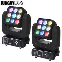 2 teile / los 9x10 Watt RGBW 4in1 Matrix Strahl Lichteffekt LED Moving Head Disco Disco Bühnenbeleuchtung Für DJ