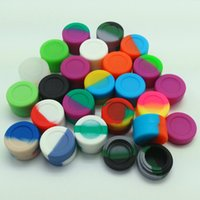 10 pçs / lote 3 ml mini assorted cor recipiente de silicone para Dabs Forma redonda Recipientes De Silicone cera Frascos De Silicone