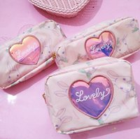 NEW ARRIVAL MAKEUP BAGS The young girl pink cute bags COSMET...