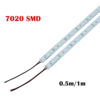 Super Bright Hard Rigid Bar Light DC12v 100cm 72 LED SMD 7020 Aluminiumlegering LED Strip Light voor kabinet / sieraden Display