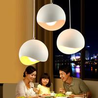 Courbe lisse moderne Hémisphérique Pendant Light Aluminium coloré Abat Bar Home Cafe Suspension Technique de lumière