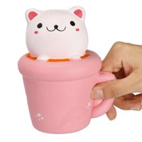 14 CM Squeeze Cute Cup Kawaii Cat Cartoon Slow Rising Fun An...