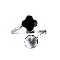 925 стерлингового серебра женщины обручальное свадебное кольцо 8-12mm круглый бисер или жемчуг Маунт Semi кольцо настройки оптом