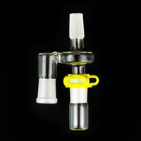 Reclaim Catcher adaptateur 14mm 18mm ashcatcher avec clip en plastique pour verre Water Pipe Drop Down Récupérateur Reclaim Adaptateur Catcher Ash