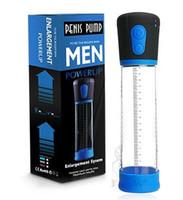 Bomba de pene eléctrica CANWIN Fuerte Ampliación del pene automática Bomba de vacío Bomba de erección del pene Extienda los juguetes sexuales