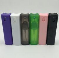 Квадратная форма тонкой туман спрей бутылки 0.35 oz / 10 мл пластиковые бутылки спрей с распылителем насосы косметические бутылки спрей стекла духи контейнер