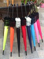 Spitze-Regenschirme Eleganter halbautomatischer Spitze-Golfschirm Fantastische sonnige und regnerische Pagoden-Regenschirme Wholesale