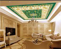 benutzerdefinierte Tapeten Wohnkultur Decke Wohnzimmer Dekoration 3D-Tapete Gemusterte Fliese 3D-Decke Wallpaper für Wände 3 d