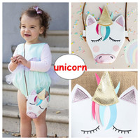 Baby Mädchen Unicorn Messenger Bags Ins Kinder PU-Leder Cartoon Kreuz Handtaschen Kinder Mini Umhängetasche