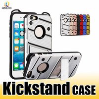Per iPhone XS MAX XR Kickstand Case Hybrid Armor Cover posteriore antiurto per iPhone X 8 7 6 Samsung Note9 S9 Plus