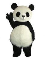 Panda clássico traje da mascote gigante panda cospaly animal dos desenhos animados caráter adulto traje do partido do dia das bruxas carnaval traje