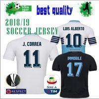 Lazio TERCEROS camisetas de fútbol 18 19 Home AWAY shiirts IMMOBILE LUCAS  LULIC KISHNA 2018 JERSEY 94226944f0cf1