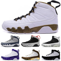 Top Quality 9 Bred Men Basketball Shoes 9s IV Black Anthraci...