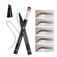10pcs lot drop HANDAIYAN Eyebrows 4 Fork Micro- carving Liqui...
