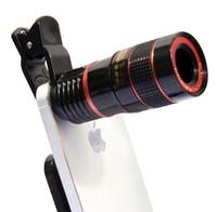 Lente telescópio telefone universal 8x zoom câmera óptica universal lente teleobjetiva com clip kit para iphone samsung htc sony lg telefone android