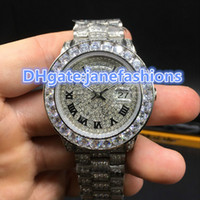 AAA luxury brand men' s watch high quality all ice Silve...